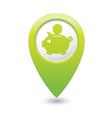 copypig icon green map pointer vector image