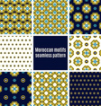 Portuguese Azulejos set of patterns vector image