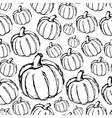 Simple hand drawn doodle pumpkin seamless pattern vector image