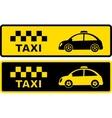 black and yellow retro taxi symbol vector image vector image