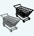 Shopping cart grocery trolley vector image vector image