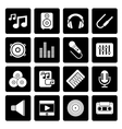 Black Music sound and audio icons vector image