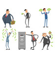 businessmen with money vector image