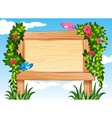 Frame design with birds and vine vector image