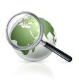 Globe zoom vector image