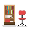 office bookcase isolated icon design vector image