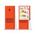 refrigerator flat cartoon vector image