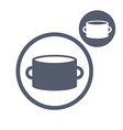 Saucepan pot simple single color icon isolated on vector image