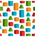 Seamless background with toy cubes vector image