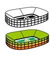Soccer Stadium sign vector image