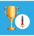 guy bungee jumper rope trophy sport design vector image