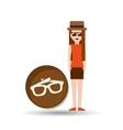 vacation woman sun glasses summer vector image