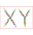 An abstract image of x and y chromosomes vector image vector image