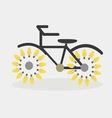 idea bicycle bulb vector image vector image