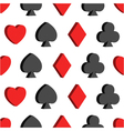seamless pattern with card suits hearts clubs vector image vector image