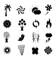 weather nature icon vector image vector image
