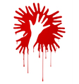 abstract bloody hands vector image