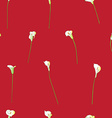 calla sparse pattern on red vector image