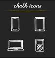 Consumer electronics chalk icons set vector image