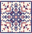Cross stitch pattern Scandinavian ornament vector image