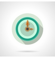 Flat color wall clock icon vector image
