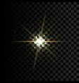golden glow light effect star burst vector image