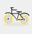 idea bicycle bulb vector image
