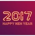 New year design neon figures vector image