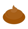 Poop icon isometric 3d style vector image