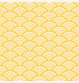 traditional asian gold wave pattern vector image