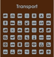 Set of transport simple icons vector image