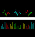 Heart beats and sound waves vector image