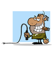 Boss with whip cartoon vector image