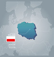 Poland information map vector image