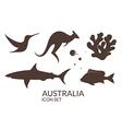 Australia Icon set vector image