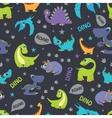 Dinosaurs Roaring Seamless Pattern Cutest vector image
