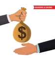 Money taking vector image