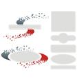 Diffuse Logo Set vector image vector image
