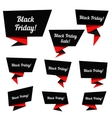 Black Friday Sale elements vector image