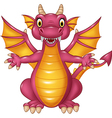 Cartoon funny dragon isolated on white background vector image