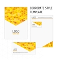 Corporate style template yellow triangles vector image