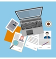 Flat design icon of human resources management vector image