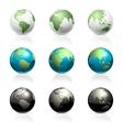 Globes set vector image
