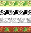grape leaf border vector image