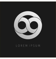 Grey infinity limitless icon Logo template design vector image