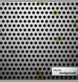 Grunge metal speaker grill seamless pattern vector image