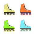 Roller skates in flat style vector image