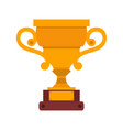 trophy cup icon winner gold award champion prize vector image