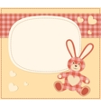 Card with the hare for baby shower vector image vector image