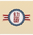 Patriot Day circle Emblem with Ribbon vector image